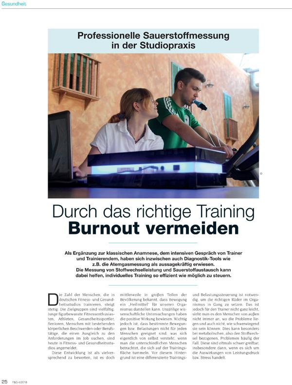 Durch das richtige Training Burnout vermeiden